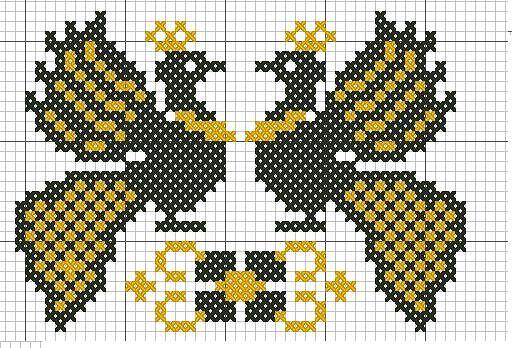 Жар птица из бисера схемы